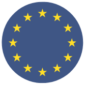 EU flag icon - round