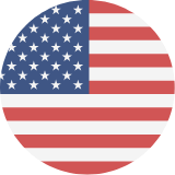 USA flag icon - round